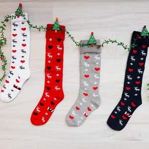 pomysł na świąteczny upominek prezent ciepłe świąteczne skarpetki