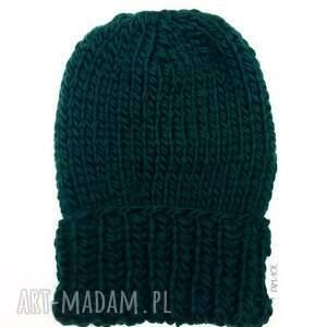 zielone akcesoria naturalna czapka 100% wełna