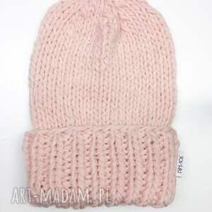 hand-made akcesoria wełna czapka 100% naturalna