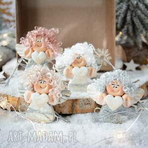 święta upominki na choinkę paczuszka uroczych aniołków, w eko