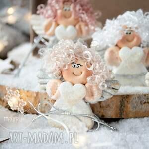 święta upominki prezent świąteczny paczuszka uroczych aniołków, w eko