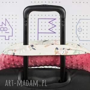 różowe podróżna poduszka bohemian