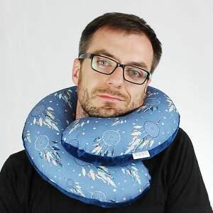 zagłówek poduszka podróżna rogal, rozmiar