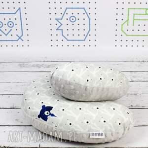 poduszka akcesoria niebieskie podróżna miśki