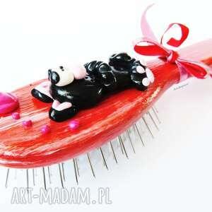 czarne akcesoria modelina szczotka do włosów - kotek czarny
