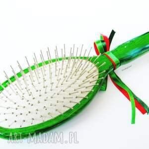 hand-made akcesoria szczotka do włosów biedroneczki