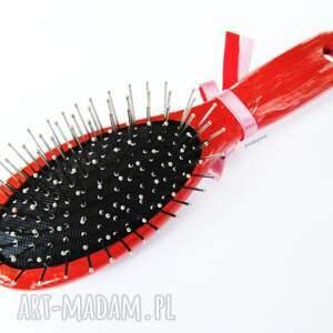 gustowne akcesoria szczotka do włosów - kotek czarny