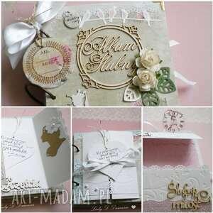 białe albumy ślubne album ślubny na zdjęcia