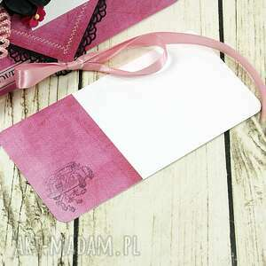 nietypowe albumy ślubna kartka - pink love