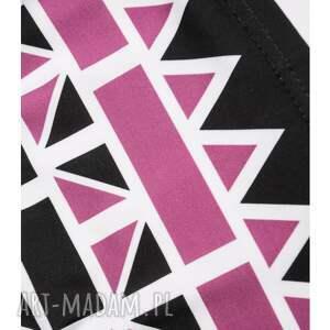 białe bielizna biustonosz geometric bandeau pink - top