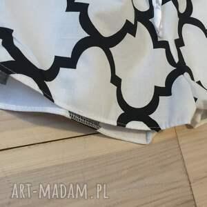 szorty bielizna piżama, spodenki biało czarna