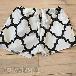 bielizna walentynki piżama, spodenki biało czarna