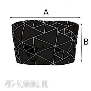 bielizna bandeau triangle black - top