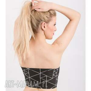 bielizna top triangle bandeau black -