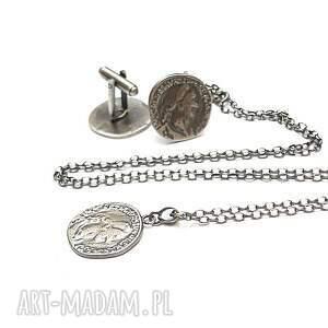 hand made biżuteria spinki monety - do mankietów