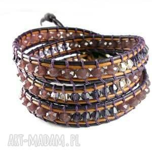 niesztampowe biżuteria bransoletka snake wrap: fiolet na trzy
