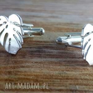 biżuteria spinki srebrne do mankietów