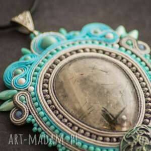 retro biżuteria turkusowe wisior naszyjnik sutasz w stylu