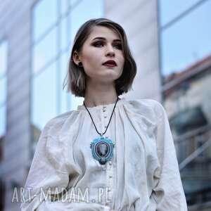 handmade biżuteria kwarc wisior naszyjnik sutasz w stylu