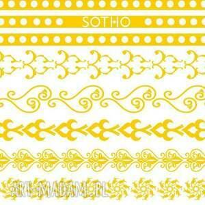 gustowne biżuteria tatoo zestaw złotych metalicznych tatuaży