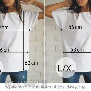 bluzki koszulka alpaka bawełnina biała