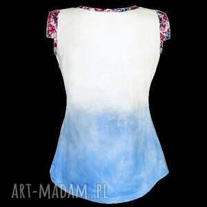 bluzki bluzka bawełniany top blue garden
