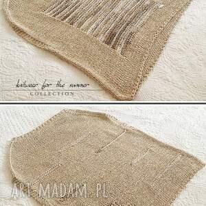 bluzki bawełna beżowa z melanżem