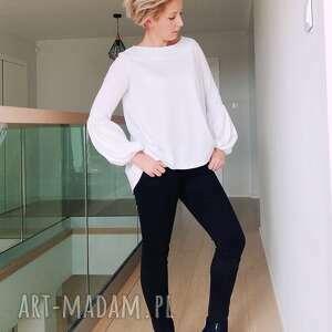 bluzka biała bluzki z bufiastymi