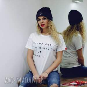 handmade bluzki koszulka biała fajna modna t shirt