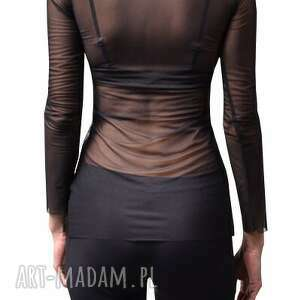 bluzki tiul black wind - tiulowa bluzka