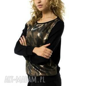 czarne bluzki bluzka bluza damska pepitka lustrino
