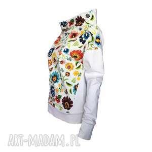 folkowa-bluzka bluzki bluza folkowa z motywem łowickim