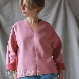 eleganckie bluzki ciepła bluza wełniana dwustronna