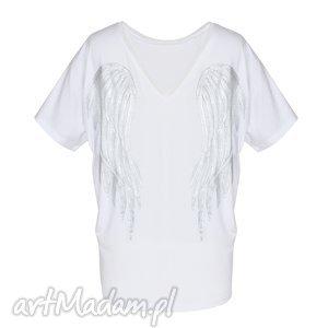 motyw bluzki bluzka biała | skrzydła angel wings