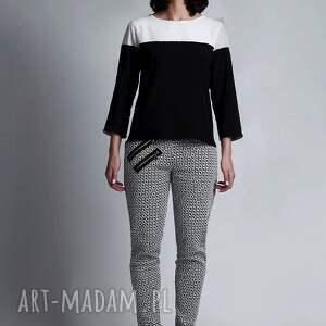 bluzki czarnobiały bluzka, blu117 biały/czarny