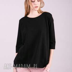 gustowne bluzki bluzka damska dresowa anna czarna