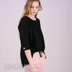 TrzyForU bluzki: Bluzka Damska dresowa ANNA Czarna - bluzy kurtki