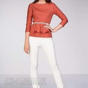 pomarańczowe bluzki moda bluzka denisa