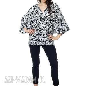 lato wyjątkowa bluzka, fason kimono, wykonana