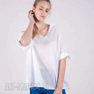 bluzki spodnie bluzka koszulowa letnia muślin