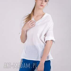 spodnie bluzki bluzka koszulowa letnia muślin