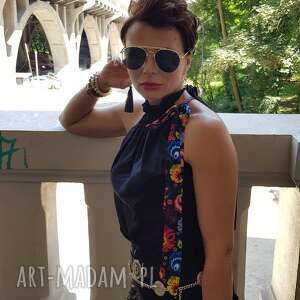 MoRe Fashion bluzki: Bluzka liza 4867 - bluzkawiązana bluzkabawelniana