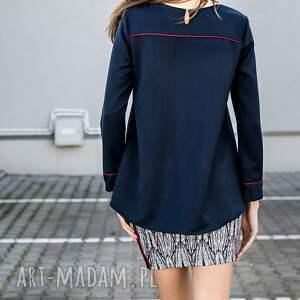 awangardowe bluzki bluzka luźna wykonana ze średniej grubości