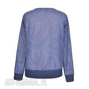 szare bluzki bluzka rozpinana mozaika