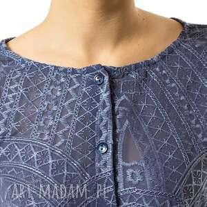 bluza bluzki niebieskie bluzka rozpinana mozaika