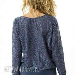 niekonwencjonalne bluzki uniwersalna bluzka rozpinana mozaika