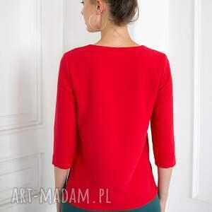 unikalne bluzki czerwona bluzka sangria