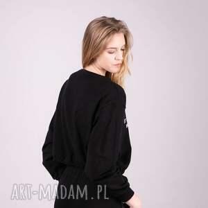 kurtka bluzki bluzka sportowa croop czarna
