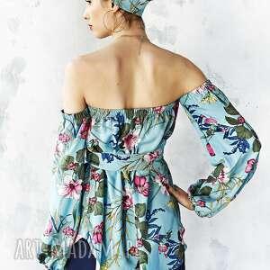 ciekawe bluzki bluzka w kwiaty z odsłoniętymi
