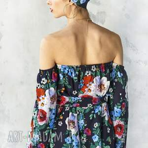 bluzki bluzka w malowane kwiaty